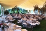Panoramic with the tables under the tent